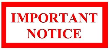 Important notice - 01 April 2021